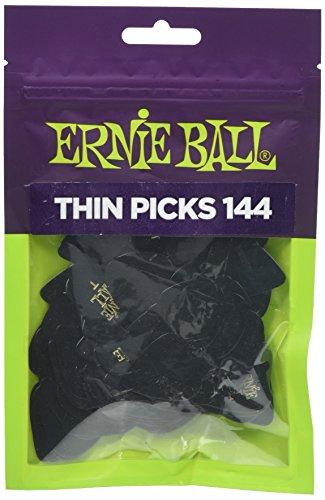 Ernie Ball Thin Black Picks, Bag of ()