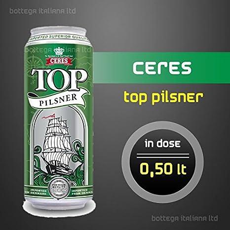 Bier Ceres Top (dänisches Pils Pilsner) - 4,6% Alkohol - (05 Dosen à ...
