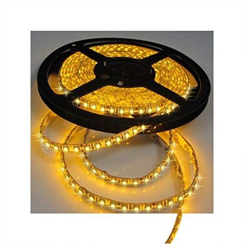 Tasodin Water-Resistance IP65, 12V Waterproof Flexible LED Strip Light, 16.4ft/5m Cuttable LED Light Strips, 300 Units 3528 LEDs Lighting String, LED Tape(Yellow) Power Adapter not Included