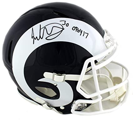 836f3cdd4 Image Unavailable. Image not available for. Color  Todd Gurley Signed Los  Angeles Rams Riddell Authentic ...