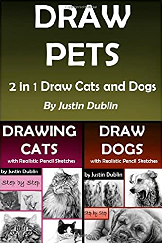 Draw Pets 2 In 1 Draw Cats And Dogs 11 Animal Drawings In A Step
