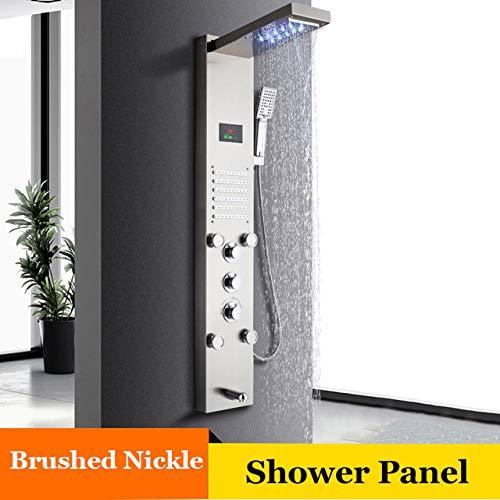 Shower System LED Cascada Ducha de Lluvia Panel de Baño Ducha ...