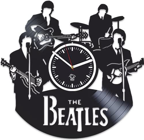 Wall Clock Music Legend Rock Band Lovers Vinyl Record Artwork Handmade Wall Decor Non Ticking Clock Fathers Day Gift Idea Christmas Gift