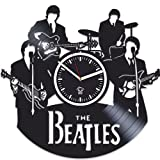 The Beatles, Rock Music Band, Vinyl Wall Clock Handmade Home Decor, Best Gift for Fans, Vinyl Record, Kovides, Office Decoration Living Room Inspirational, Silent Mechanism, Wall Sticker, Wall Art Review
