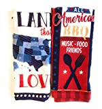 #8: Patriotic, American, 4th of July, Kitchen Dish Towels Set, 2 Pieces