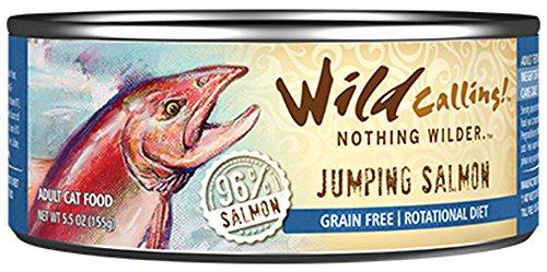 Jumping Salmon - Wild Calling Canned Cat Food - Jumping Salmon 96% Salmon - 5.5 oz - 24 ct