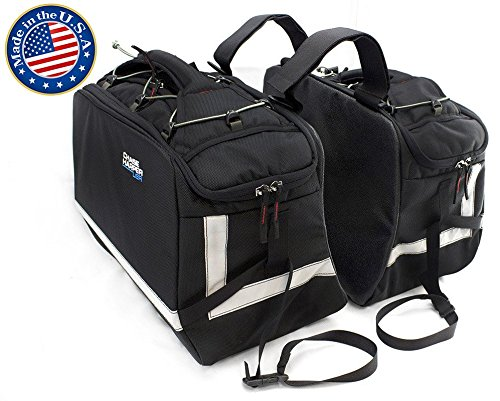 Chase Harper 3550 Aeropac II Saddle Bag - 43.4 Liters (Nylon Motorcycle Saddlebags)