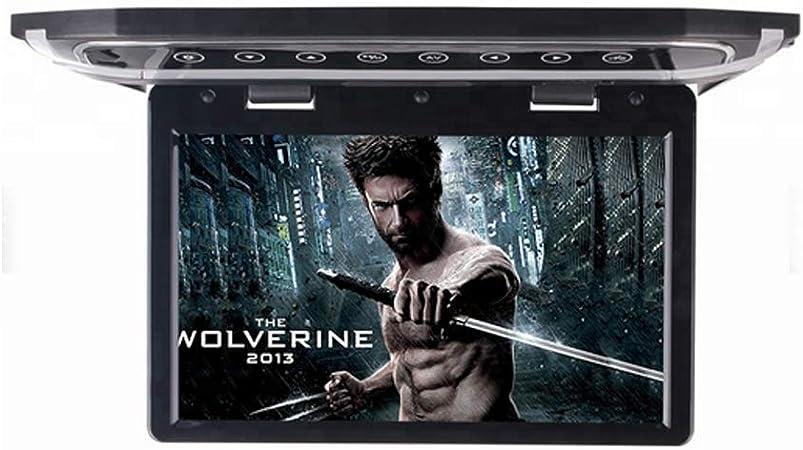 QSBY Monitor de TV para automóvil de 12V Tipo de Techo Pantalla Grande TFT de 12.1 Pulgadas HD 1080P Adecuado para USB HDMI SD FM Se Puede conectar al Disco Duro DVD