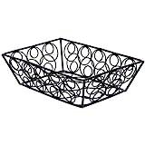American Metalcraft EBB59B Steel Rectangular Wire Loop-D-Loop Basket, Black, Small