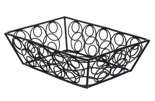 American Metalcraft Basket (American Metalcraft EBB59B Steel Rectangular Wire Loop-D-Loop Basket, Small, 9