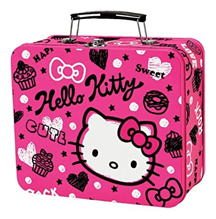 e8d84c2bcbc9 Buy Hello Kitty Squiggle - Metal Box Online at Low Prices in India -  Amazon.in