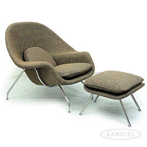 Kardiel Womb Chair & Ottoman, Oatmeal Houndstooth Twill 511uu0CMfxL