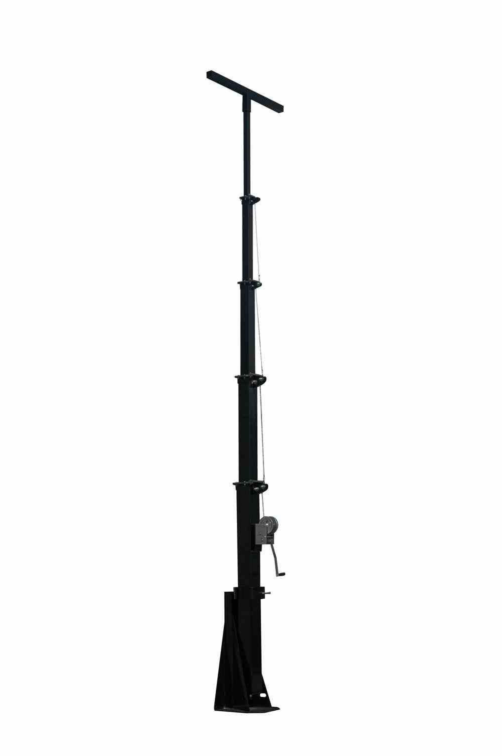 20' Five Stage Telescoping Light Mast - Extends up to 20 Feet - Collapses Down to 6.5 Feet