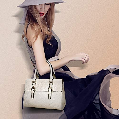 MFENG Store - Borsa a tracolla 5 in 1 con motivo a diamante, in poliuretano, con stampa floreale, colore: nero Nero Blu