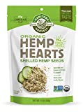 Manitoba Harvest Organic Hemp Hearts Raw Shelled Hemp Seeds, 12oz; with 10g protein& Omegas per Serving, Non-GMO, Gluten Free