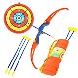 Fun Toy Archery Shooting Set for Kids with Bow& 3 Suction Cups, Target, Quiver