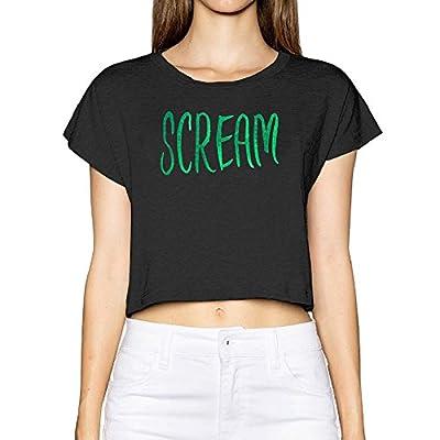 Scream Quotes Women Crop Top Tees