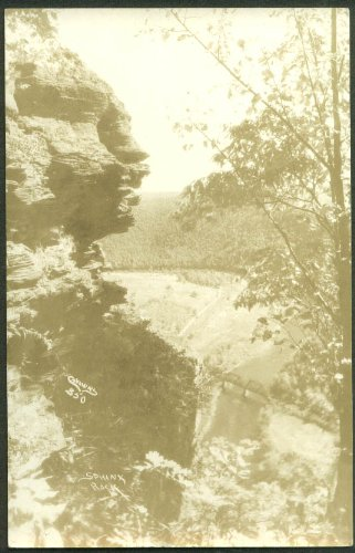 Sphinx Rock NC RPPC postcard 1920s photo by Cannon #350