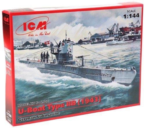 ICM U-Boat Type IIB (1943) 1:144 Scale Military Model Kit