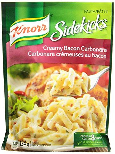 Knorr Sidekicks Cream Bacon Carbonara Pasta 134g/4.72 Ounces 8 count {Imported from (Carbonara Pasta)