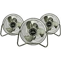 iLIVING ILG8F12 3-Speed High Velocity Floor Fan, 3 Units, 12
