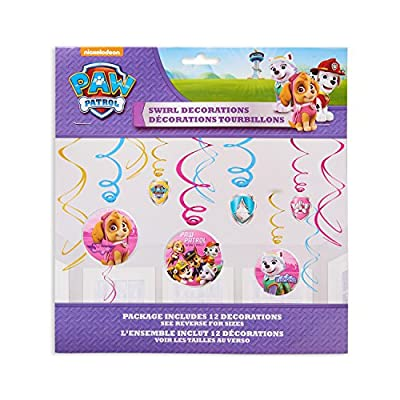 American Greetings Paw Patrol Party Supplies Hanging Swirl Decorations, 12-Count: Toys & Games