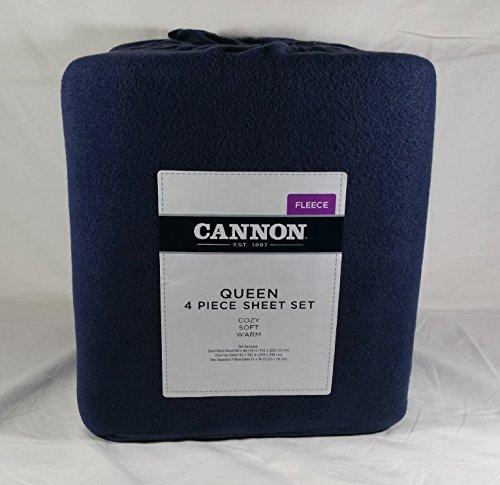 Cannon Cozy 4-Piece Premium Fleece Queen Sheet Set (Kmart Standard Pillowcase)