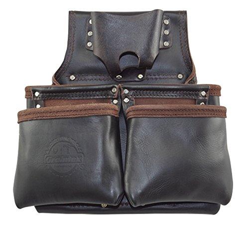 Graintex os20836de clavos de carpintero de bolsillo y bolsa de herramientas piel curtida de grano superior