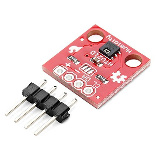 HiLetgo® HTU21D Temperature Humidity Sensor Breakout Module I2C IIC 1.5V-3.6V Replace SHT15 Compatible to SHT20 SHT21 ()