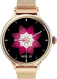 Relógio Inteligente Smartwatch Com Monitor CardíAco Dourado Para Mulheres Para Telefones Iphone Android, Monit