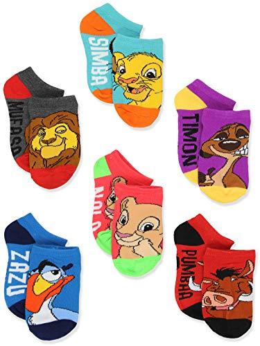 Disney The Lion King Boy's Girl's Toddler Teen Adult's 6 pack Socks Set (4-6 Toddler (Shoe: 7-10), Blue/Multi)