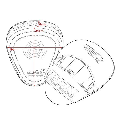 RDX Curved Focus Pads Mitts,Hook and Jab,Punch Bag Kick Boxing Muay Thai MMA UFC by Unknown