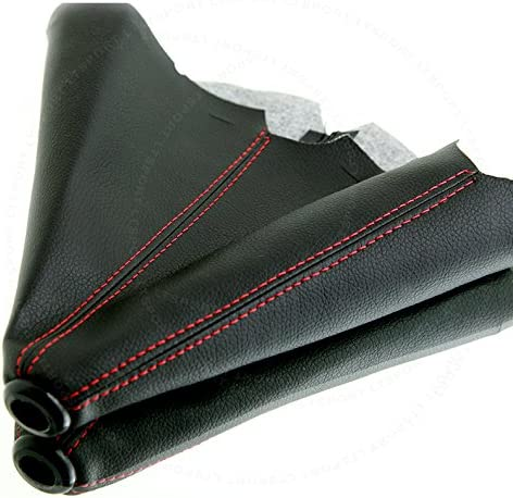 LT Sport 842148179121 for Scion PVC Leather RED Stitch Pleather Manual Shifter Shift Boot