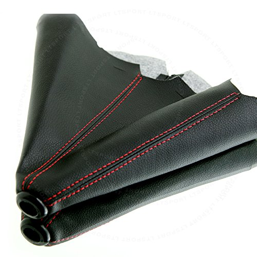 LT Sport SN#100000000763-213 For Honda PVC LEATHER RED STITCH Pleather Manual shifter Shift Boot