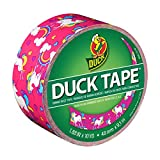 "Duck Brand 284567 Printed Duct Tape, Unicorn, 1.88""x10 yd, Single Roll"