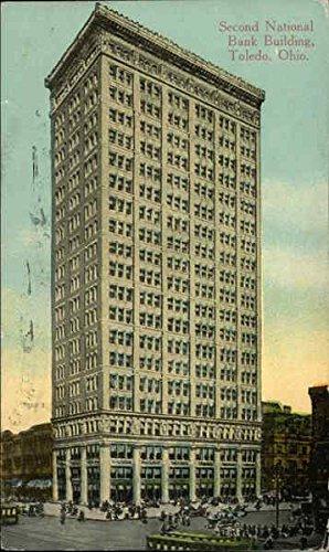 Second National Bank Building Toledo  Ohio Original Vintage Postcard