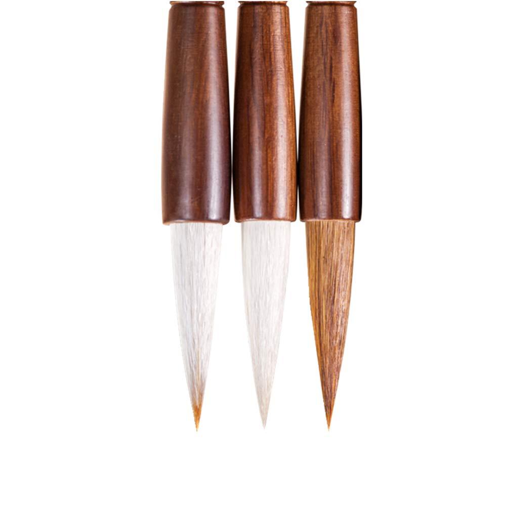 Professional High-Grade Fine Chinese Calligraphy Sumi Writing Brush Set for Beginner Watercolor Drawing Kanji Brush Set (3 PCS)