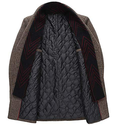 Homme Manteau Court Mirecoo Laine 2 D'hiver En Chaud Grau Business Pour Z8qqx5wHY