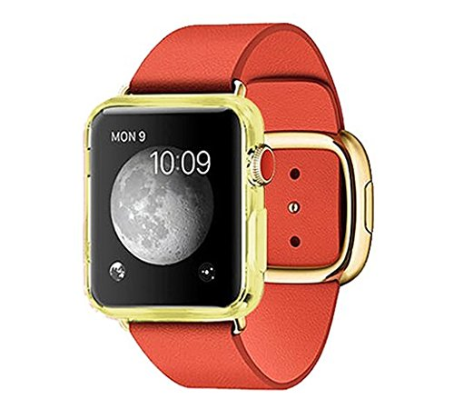 Apple Watch Case, Allmet? [Yellow] Slim Apple Watch 42mm New design GEL TPU Case**NEW** Soft Flexible Protective Case Cover For Apple Watch 42mm (2015)