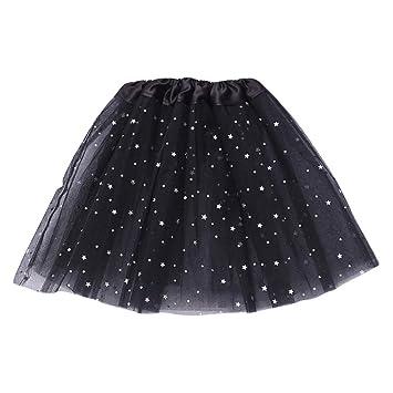 Qlans Falda Cruzada de Ballet para niñas, Faldas de tutú de Baile ...