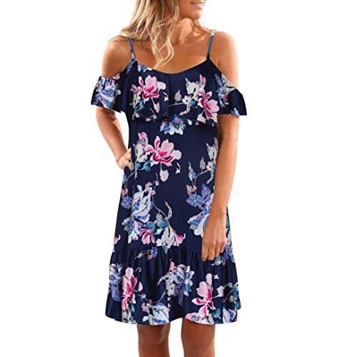 Shoulder Short Dress Club Attractive Summer Mini Print Sunshin Floral Off Kanpola Beach Party Womens FpO4PwI