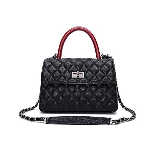 Women's Small Leather Handbag Tote Shoulder Crossbody Bag