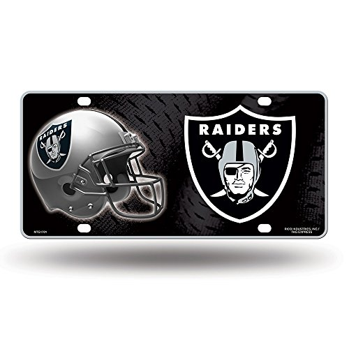 NFL Oakland Raiders Metal License Plate Tag