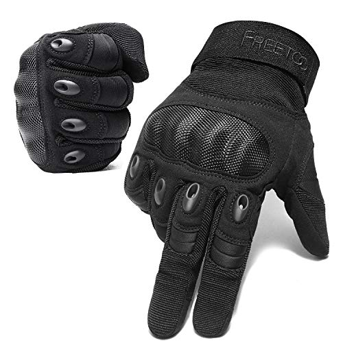 FREETOO Airsoft Gloves Men Tactical Gloves for Hiking Cycling Climbing Outdoor Camping Sports (Not Support Screen Touch) (M)