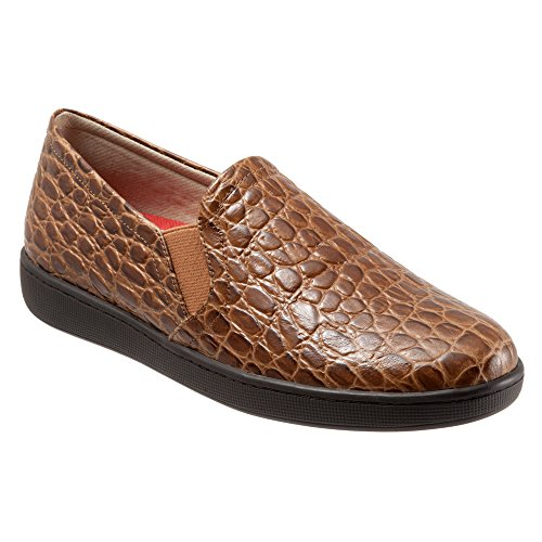 Travere Kvinners Americana Flat Cognac Croco Skinn