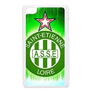 Saint-Etienne-Logo,ASSE,The Greens,Association Sportive de Saint-¨¦tienne Loire Personalized IPod Touch 4/4G/4th Generation Hard Plastic Shell Case Cover White&Black(HD image)