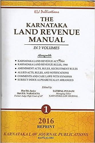 Buy karnataka land revenue manual 2 vols book online at low buy karnataka land revenue manual 2 vols book online at low prices in india karnataka land revenue manual 2 vols reviews ratings amazon fandeluxe Gallery