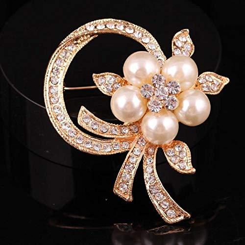 kaige Elegant Temperament Brooch Brooch Fashion Pearl Rhinestone Wreath Brooch Brooch Chest Accessories Female Accessory Pin
