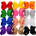 8 inches Large Grosgrain Ribbon Hair Bows With Alligator Clips For Big Teens Girls Kids Children 12 colors
