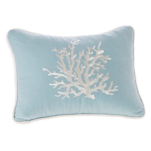 Harbor House Coastline Fashion Cotton Throw Pillow, acquard Oblong Decorative Pillow, 12X16, Blue